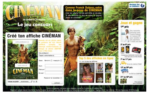 """Réalisez votre propre affiche de """"Cinéman"""""""