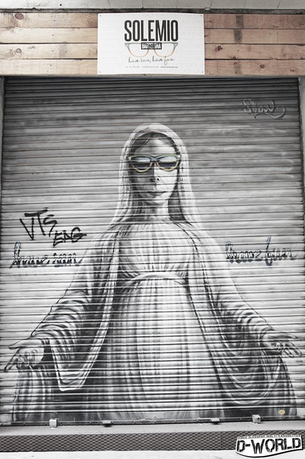 street art barcelone opticien
