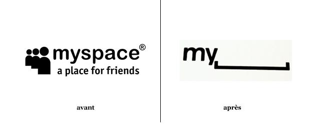 Le logo de Myspace : avant et après