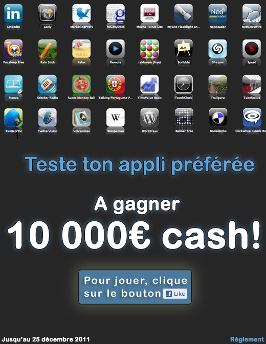 gagner 10 000 euros en testant des applis iphone. Black Bedroom Furniture Sets. Home Design Ideas