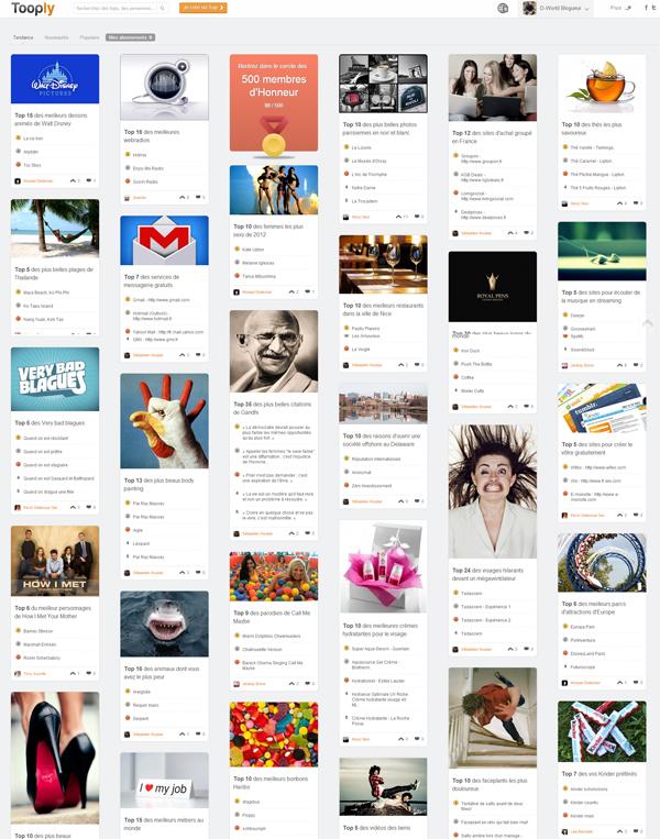 Tooply : le réseau social des Tops !