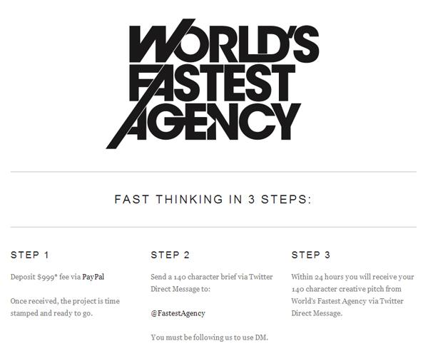 Fastest Agency : des briefs publicitaires sur Twitter