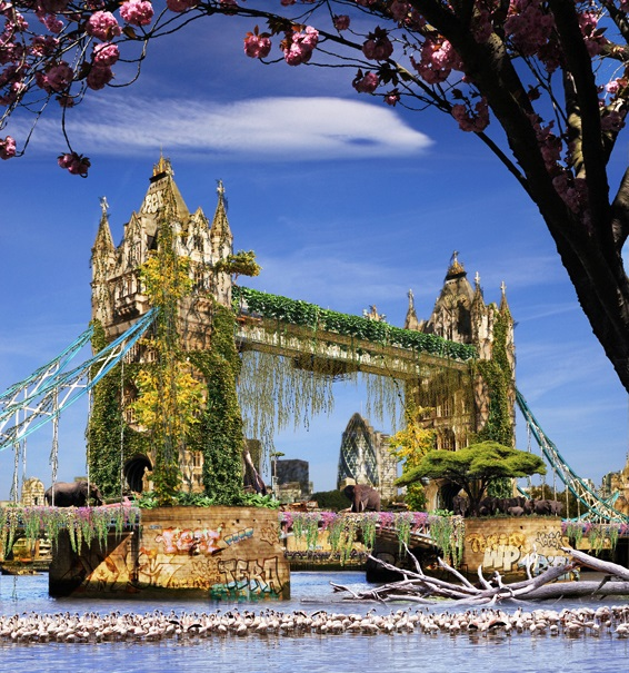 Tower Bridge - Londres version jungle