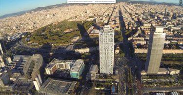 barcelone, drone, vu du ciel