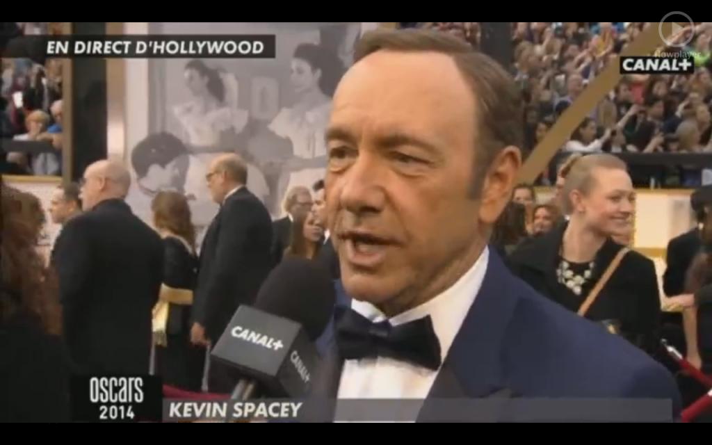 Kevin Spacey au micro de Canal +.