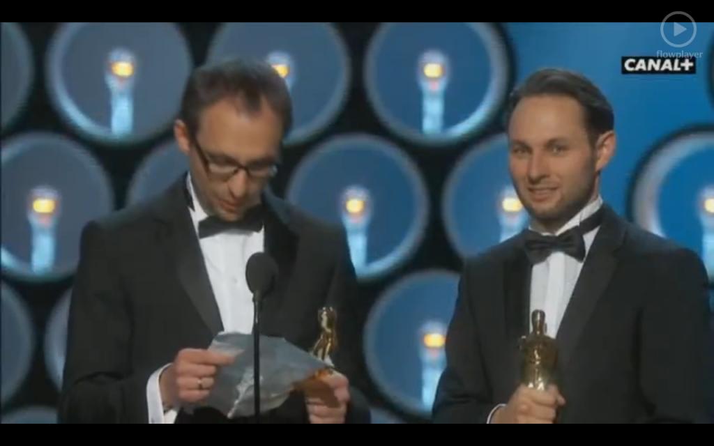 """Alexandre Espigares et Laurent Witz """"Mr Hublot"""" (Cocorico un Oscar pour des frenchies !!!)"""
