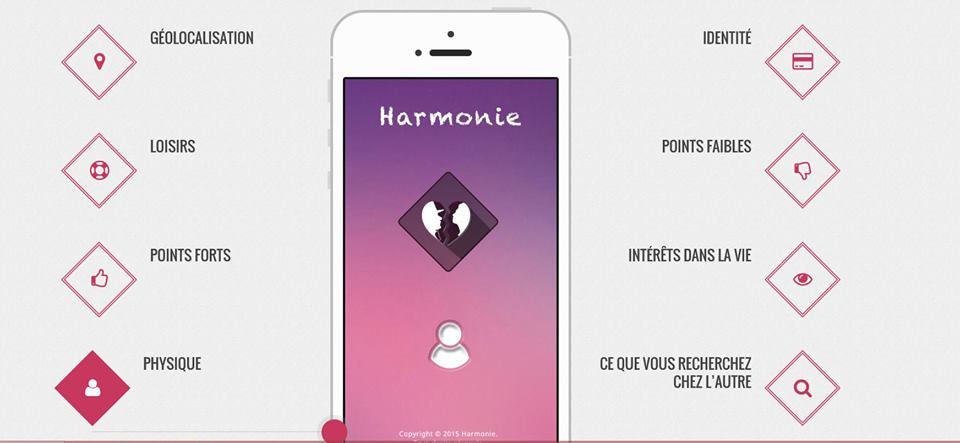 application rencontre harmonie