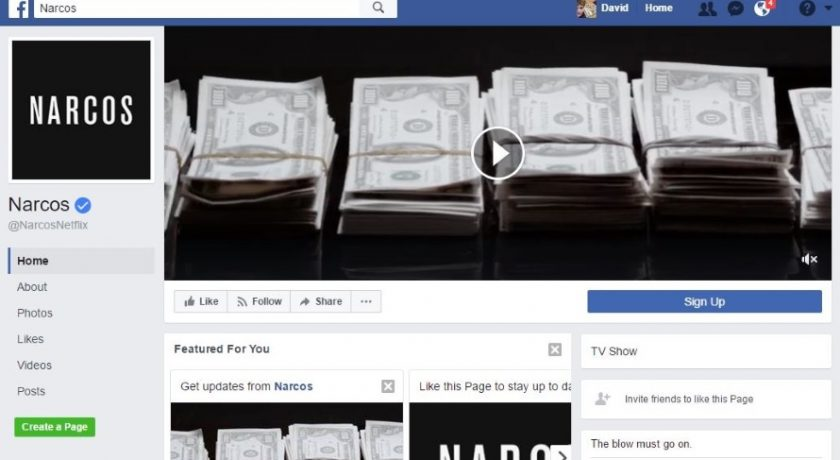narcos facebook couverture