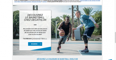 site decathlon basket