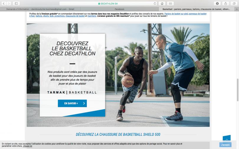 site decathlon basket