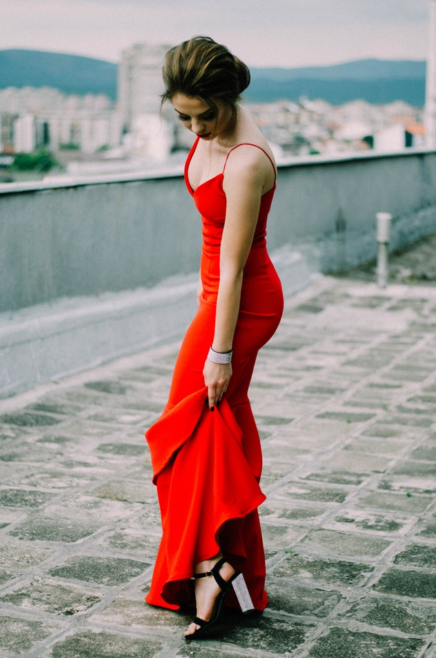 belle robe rouge