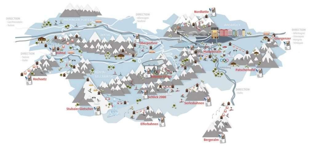 pistes de skis a Innsbruck